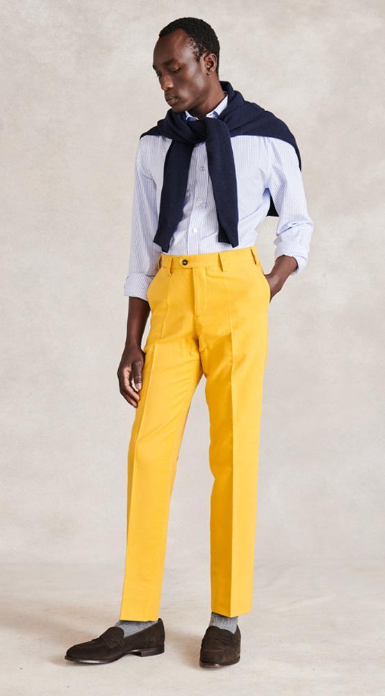 Mustard Moleskin Trousers