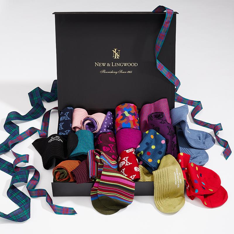 Socks In A Box New & Lingwood